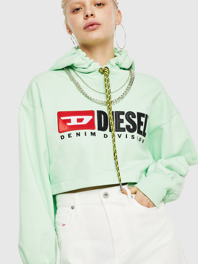 Diesel - F-DINIE-A, Green Fluo - Sweaters - Image 1
