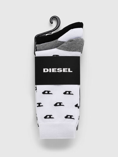 Diesel - SKM-RAY-THREEPACK, Grey/White - Socks - Image 2