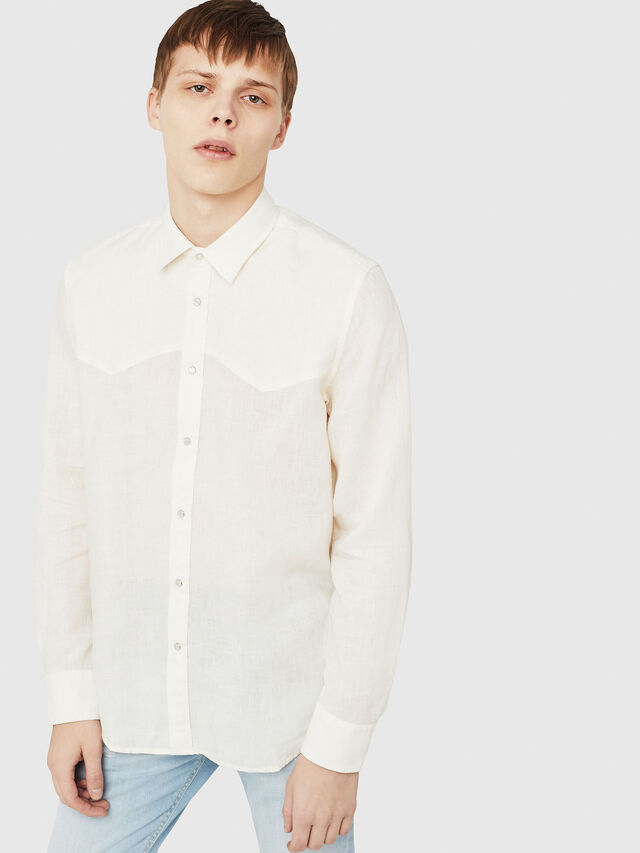 Diesel - S-PLAN-A, White - Shirts - Image 1