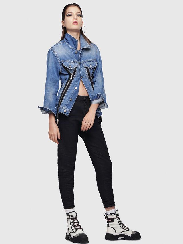 Diesel - Candys JoggJeans 0688U, Black/Dark grey - Jeans - Image 4