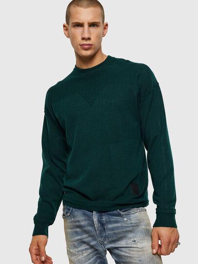 Diesel - K-LETO, Dark Green - Knitwear - Image 1
