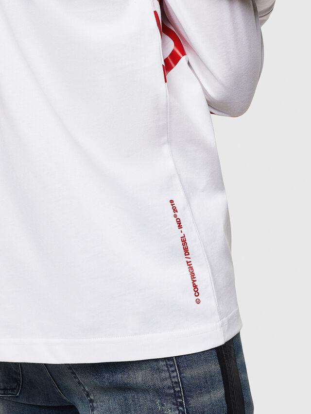 Diesel - T-JUST-LS-STAR, White - T-Shirts - Image 5