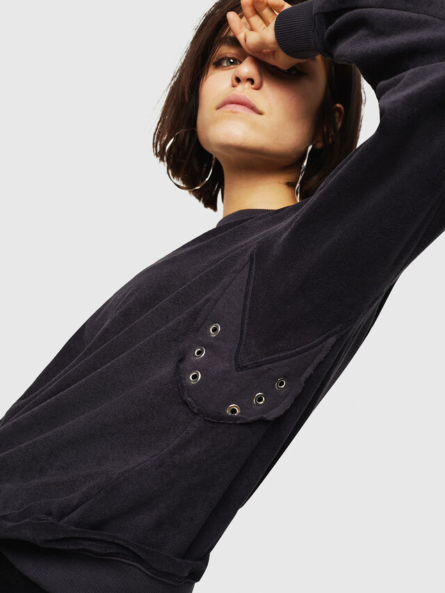 Diesel - F-LYANY-A, Black - Sweaters - Image 3