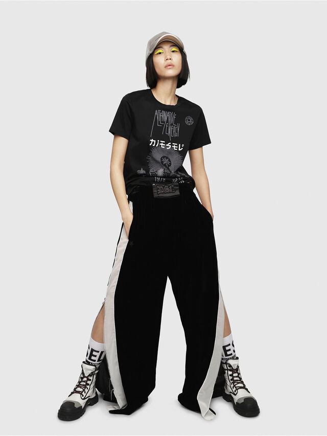 Diesel - T-SILY-WC, Black - T-Shirts - Image 3