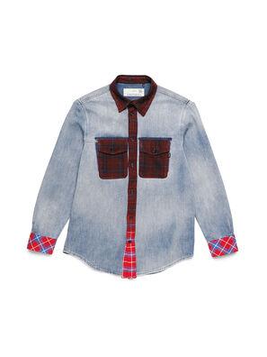 D-DEEPCHECK-A, Blue/Red - Denim Shirts