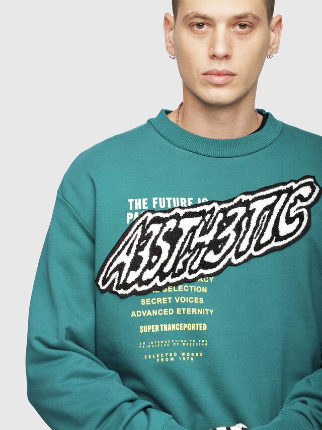 Diesel - S-BAY-YC, Dark Green - Sweaters - Image 3
