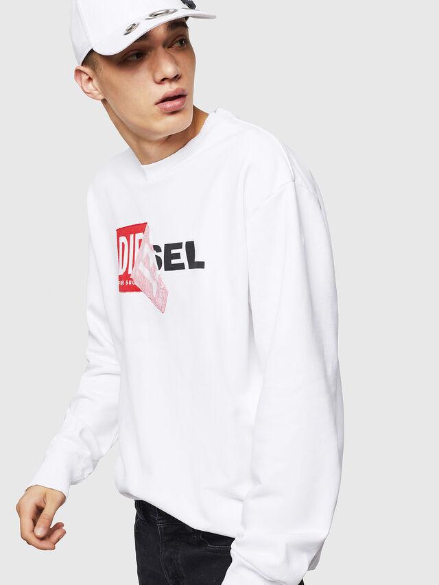 Diesel S-SAMY, White - Sweaters - Image 4