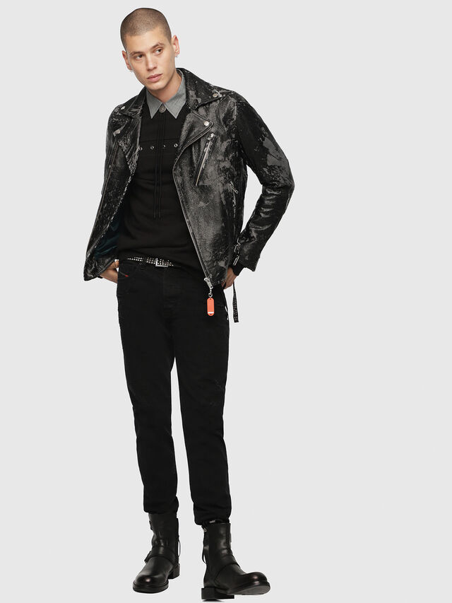 Diesel - L-KRAMPIS-A, Black Leather - Leather jackets - Image 6