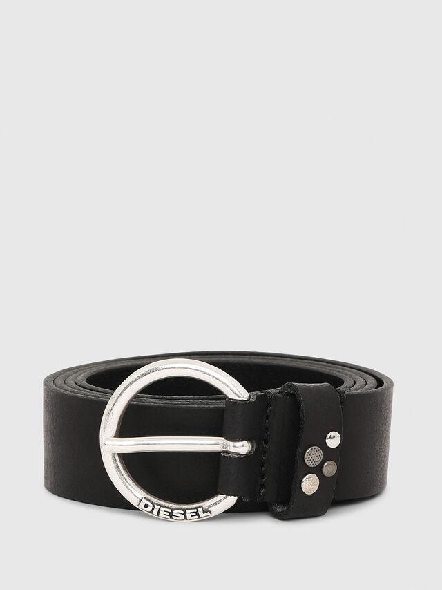 Diesel - B-WANNA, Black Leather - Belts - Image 1