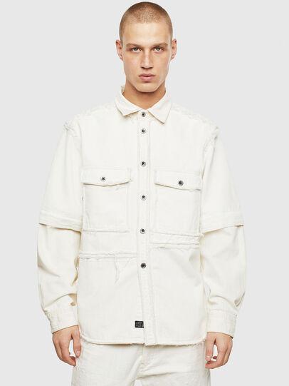 Diesel - D-KURTIS, White - Denim Shirts - Image 1
