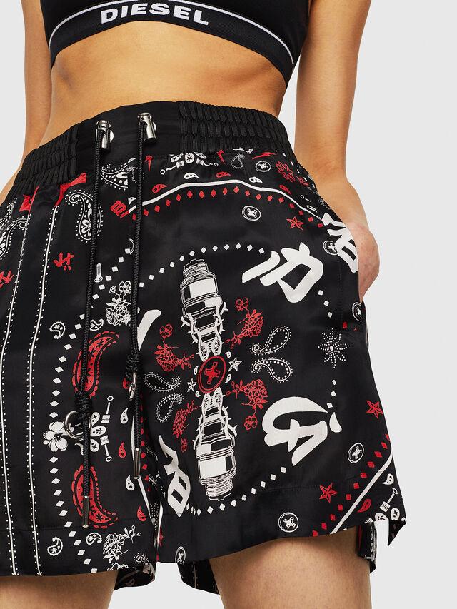 Diesel - S-DEMI, Black/Red - Shorts - Image 4