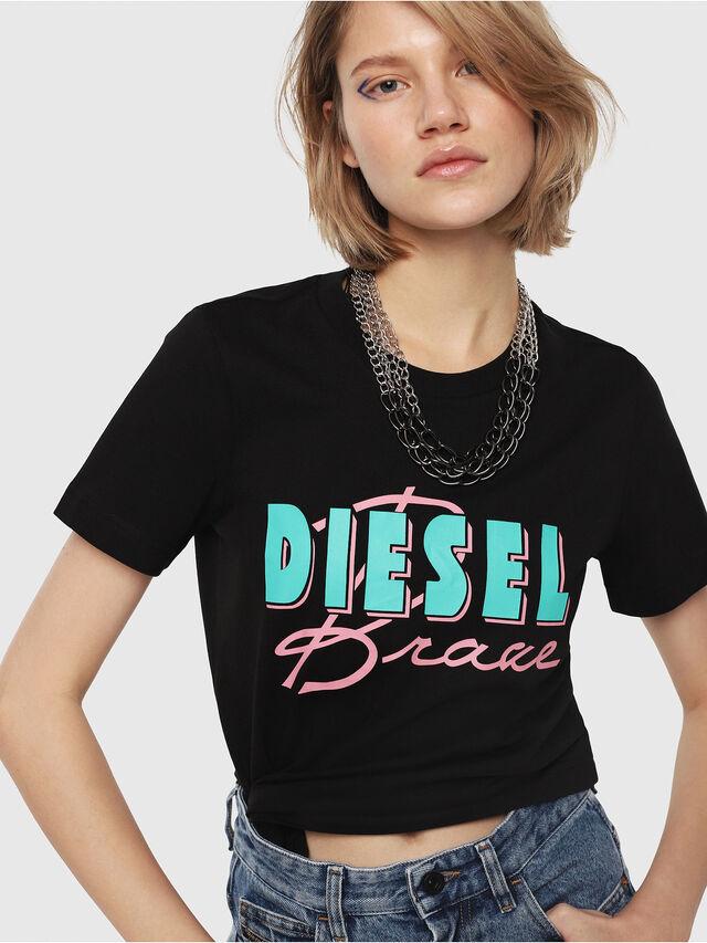 Diesel - T-SILY-C2, Black - T-Shirts - Image 1