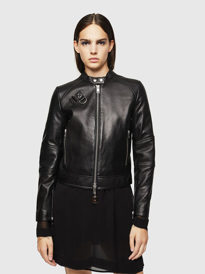 Diesel - L-SUZA, Black - Leather jackets - Image 7