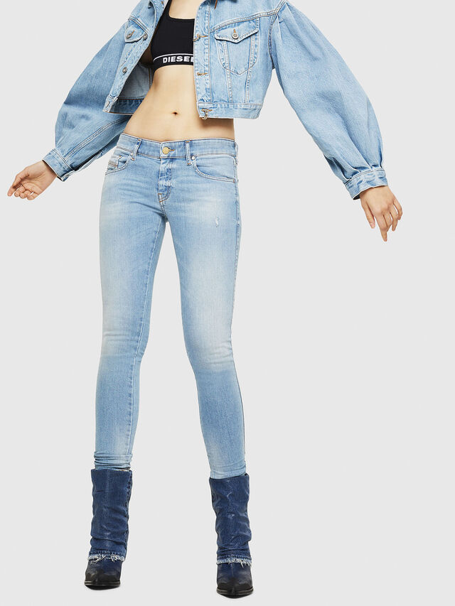 Diesel - Slandy Low 086AA, Light Blue - Jeans - Image 1