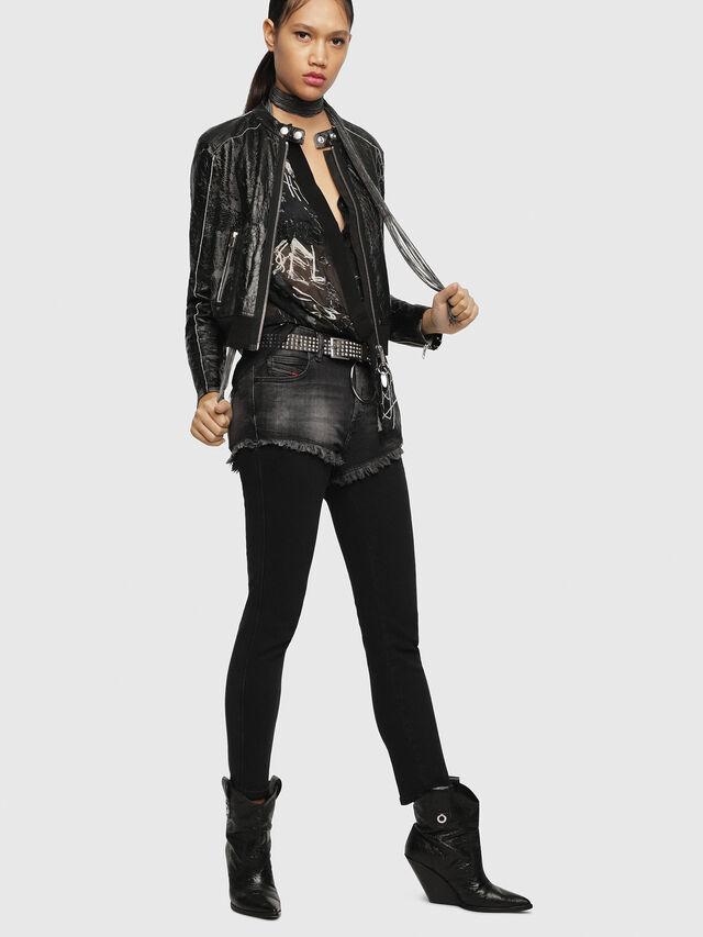 Diesel - L-LYSSA-D, Black - Leather jackets - Image 6