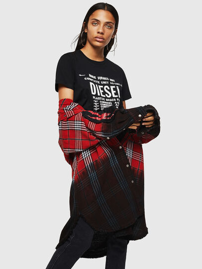 Diesel - T-SILY-ZF, Black - T-Shirts - Image 4