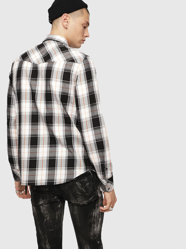 Diesel - S-EAST-LONG-E, White/Black - Shirts - Image 2