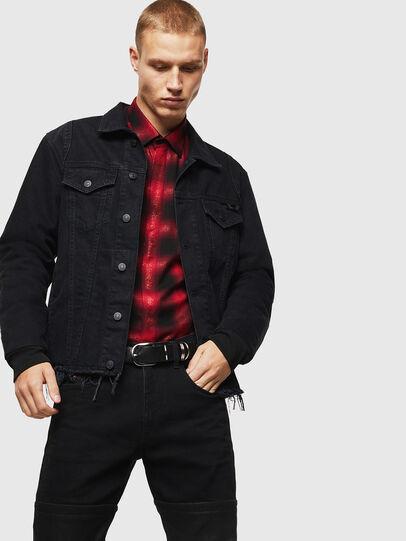 Diesel - S-MARLENE-C, Red/Black - Shirts - Image 5
