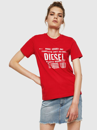 Diesel - T-SILY-ZF, Fire Red - T-Shirts - Image 1