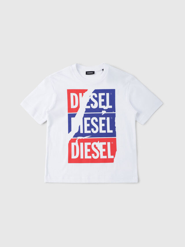 Diesel - TJUSTZC OVER, White - T-shirts and Tops - Image 1