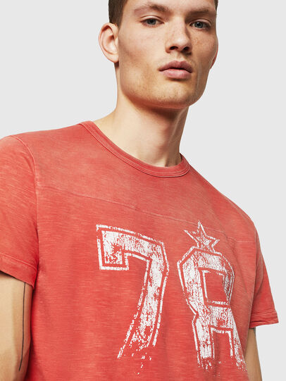 Diesel - T-DIEGO-CUT-AB, Fire Red - T-Shirts - Image 4