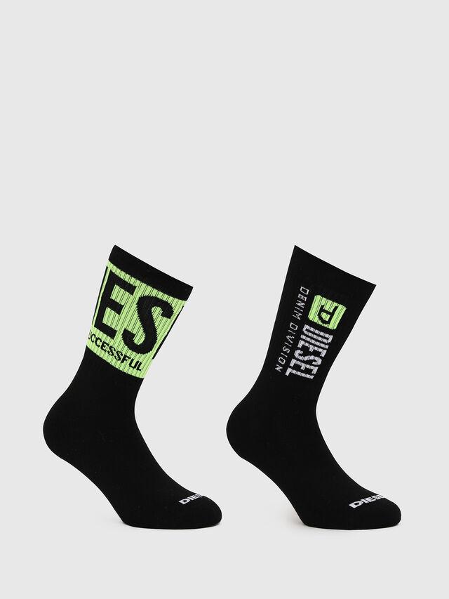 Diesel - DXF-RAY-TWOPACK, Black/Green - Socks - Image 1