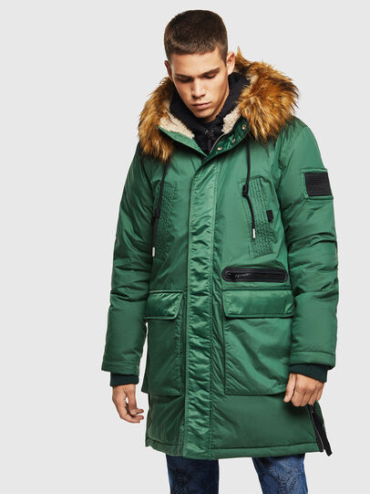 Diesel - W-BULLISK, Dark Green - Winter Jackets - Image 1