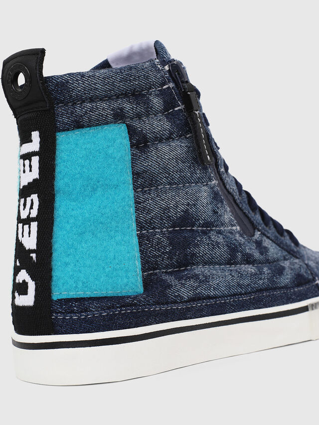 Diesel - D-VELOWS MID PATCH, Blue - Sneakers - Image 4