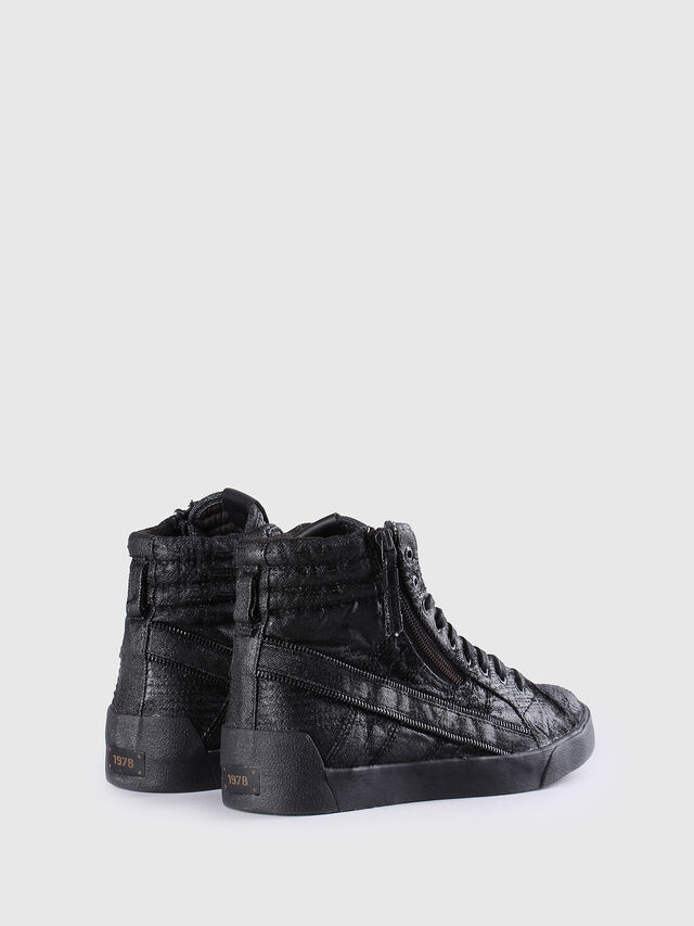 Diesel - D-STRING PLUS, Black Leather - Sneakers - Image 3