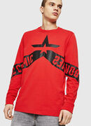 T-JUST-LS-STAR, Red - T-Shirts