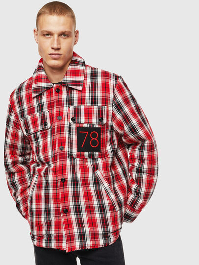Diesel - S-JOHNS, Red/Black - Shirts - Image 1