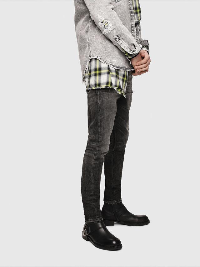 Diesel - D-Vider JoggJeans 0077S, Black/Dark grey - Jeans - Image 3