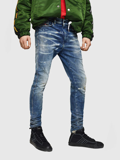 Diesel - D-Reeft JoggJeans 0870Q, Medium blue - Jeans - Image 1