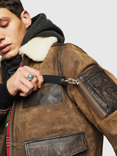 Diesel - L-OIUKIRO, Brown - Leather jackets - Image 5