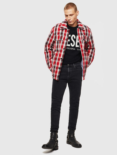 Diesel - S-JOHNS, Red/Black - Shirts - Image 8