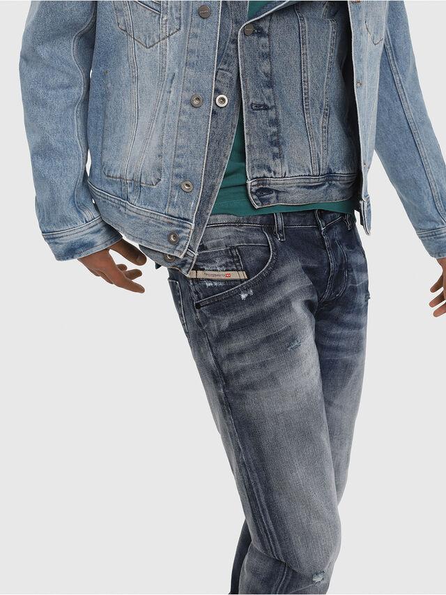 Diesel - D-Bazer 084DD, Dark Blue - Jeans - Image 5