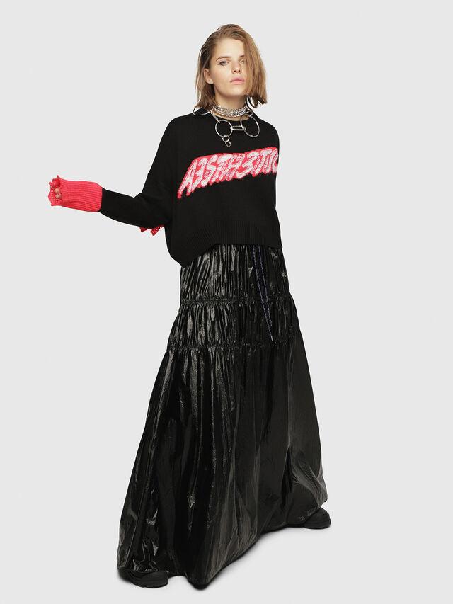 Diesel - M-TICX, Black/Red - Knitwear - Image 4