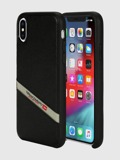 Diesel - DIESEL LEATHER CO-MOLD CASE FOR IPHONE XS & IPHONE X,  - Cases - Image 1