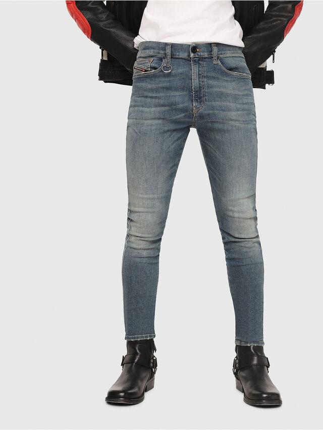 Diesel - D-Istort 085AZ, Medium blue - Jeans - Image 1