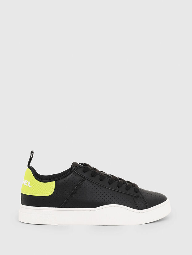 S-CLEVER LOW LACE W, Black/Yellow - Sneakers