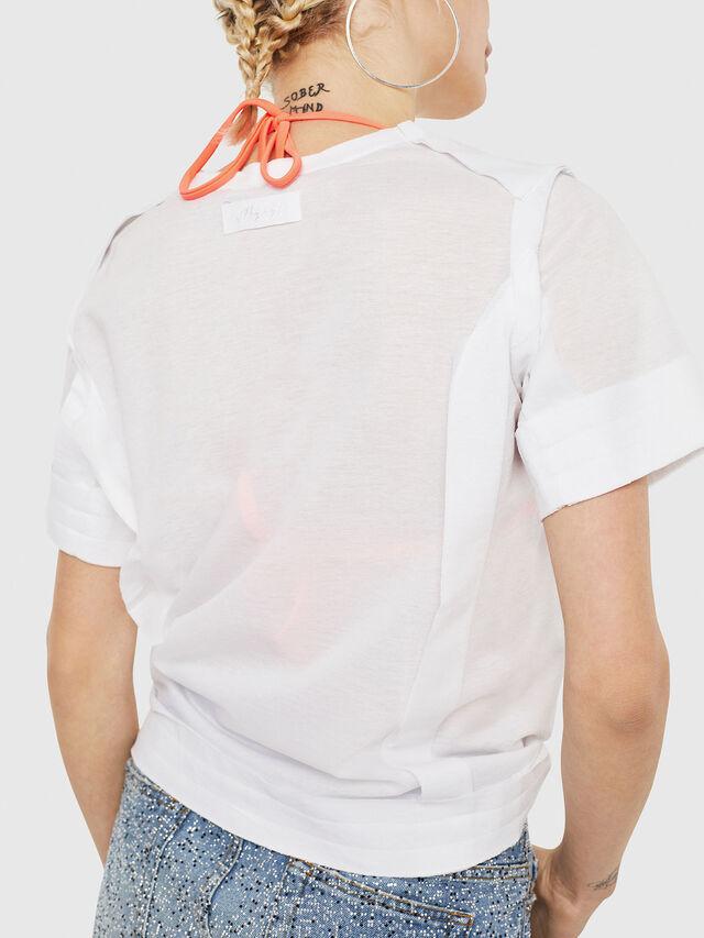 Diesel - T-ROCK-A, White - T-Shirts - Image 3