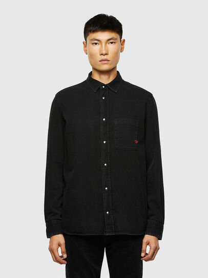 Diesel - D-WEAR-B1, Black - Denim Shirts - Image 1