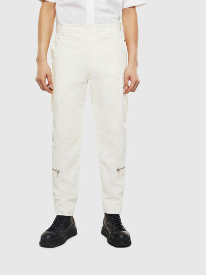 Diesel - P-ARMY, White - Pants - Image 1