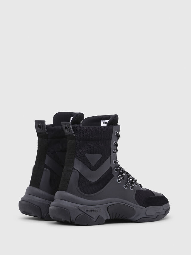 Diesel - S-KIPPER MID LACE, Black - Sneakers - Image 3