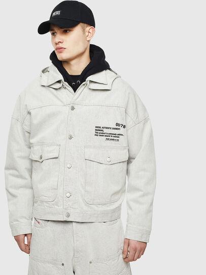 Diesel - D-EDDY, White - Denim Jackets - Image 1