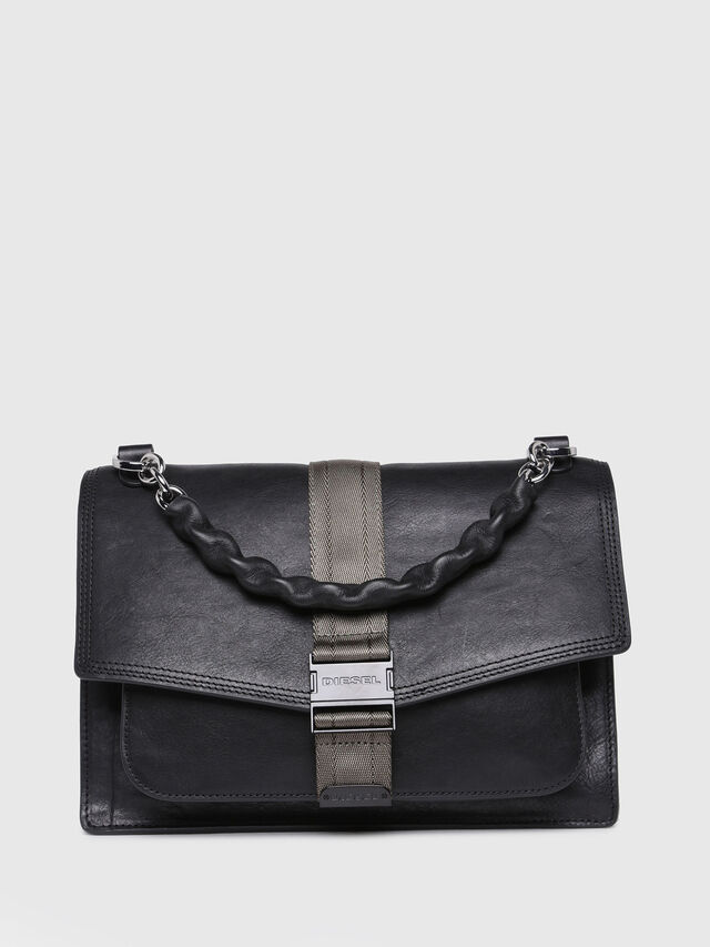 Diesel - MISS-MATCH CROSSBODY, Black Leather - Crossbody Bags - Image 1