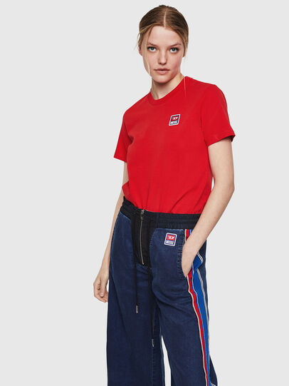 Diesel - T-SILY-ZE, Fire Red - T-Shirts - Image 4