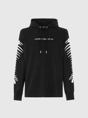 T-JUST-LS-HOOD-A6, Black - T-Shirts
