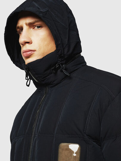Diesel - W-PETR, Black - Winter Jackets - Image 6