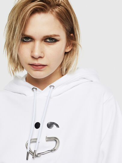 Diesel - F-ANG-HOOD-S1, White - Sweaters - Image 3